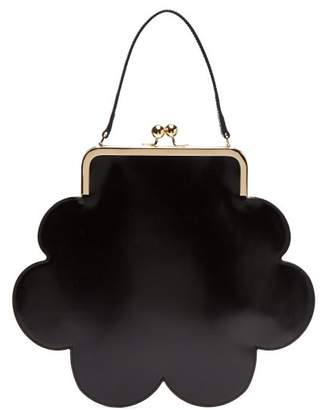 Simone Rocha Flower Leather Bag - Womens - Black