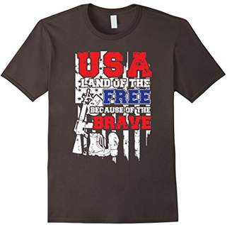 USA Land Of The Free Because Of The Brave Patriotic T-shirt