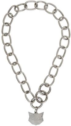 Miu Miu Silver Cat Charm Necklace