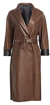 Brunello Cucinelli Women's Leather Overcoat