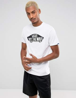 Vans Off The Wall Logo T-Shirt In White VJAYYB2
