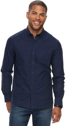 Marc Anthony Men's Slim-Fit Solid Stretch Woven Button-Down Shirt
