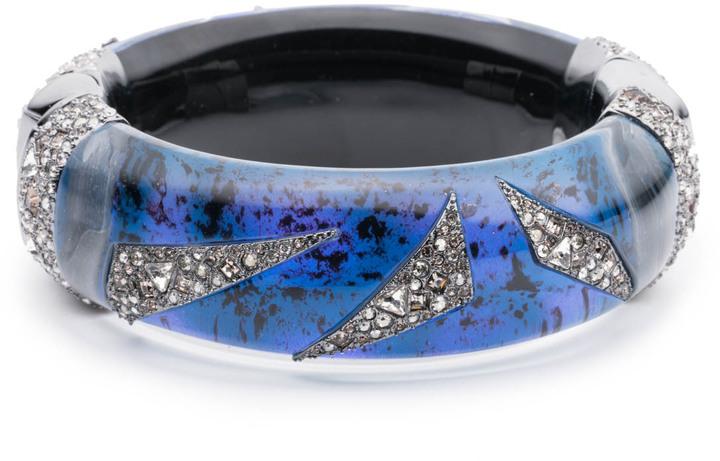 Alexis BittarCrystal Encrusted Origami Inlay Hinge Bracelet