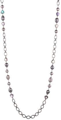 """Carolee Cultured Freshwater & Simulated Pearl Station Necklace, 36"""""""