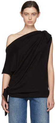 Maison Margiela Black Compact Shoulder Tie Top Sweater