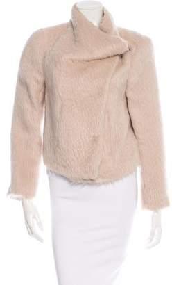 Ann Demeulemeester Fur-Trimmed Asymmetrical Jacket