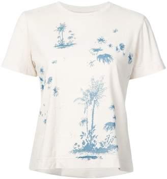 Raquel Allegra palm tree print T-shirt