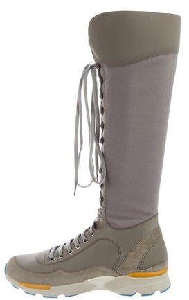 Chanel Woven Sneaker Boots