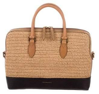 Burberry Raffia & Leather Briefcase
