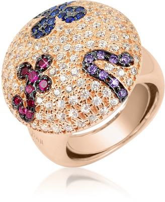 Ileana Creations Azhar Multicolor Fashion Ring