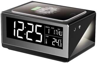 Boytone BT-12B Fast Wireless Charging Digital Alarm Clock with Temperature & Calendar Display
