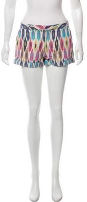 Calypso Geometric Pattern Mid-Rise Shorts
