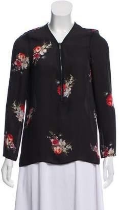 The Kooples Silk Floral Top