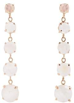 Jacquie Aiche Moonstone & Rose Gold Earrings - Womens - White