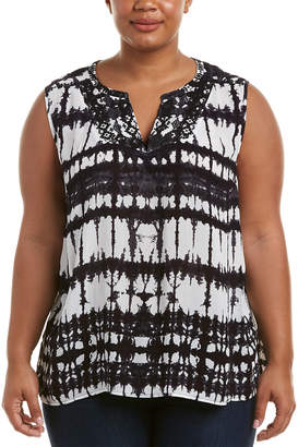 NYDJ Plus Embroidered Top