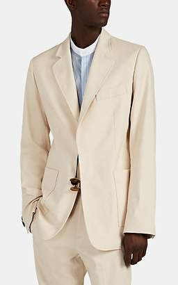 Wales Bonner Men's Tingsha-Detailed Stretch Cotton-Blend Two-Button Sportcoat - Neutral