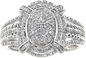 Affinity Diamond Jewelry Oval Halo Diamond Ring, 1/4cttw, 14K White Gold, by Affinity