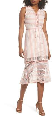 Foxiedox Clarinda Lace Midi Dress