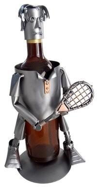 H & K SCULPTURES Tennis Male 1 Bottle Tabletop Wine Rack H & K SCULPTURES