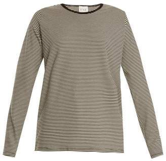 Eve denim Eve Denim - Alexa Striped Jersey T Shirt - Womens - Black White