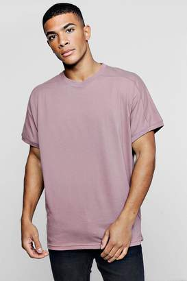 boohoo Loose Fit T-Shirt With Rib Cuff Sleeves