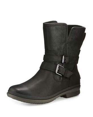 UGG Simmens Waterproof Bootie, Black $190 thestylecure.com