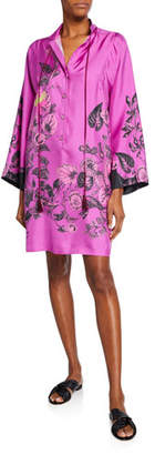Etro Floral Silk Twill Shirtdress