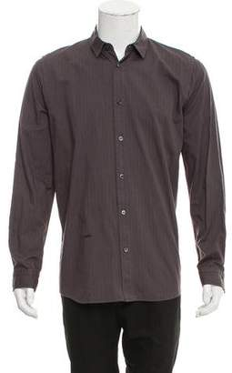 Robert Geller Striped Button-Up Shirt
