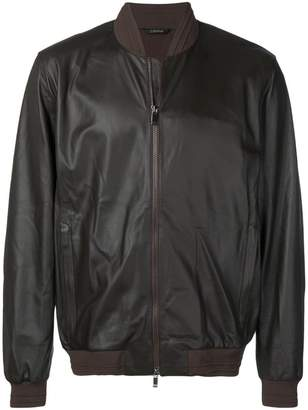 Ermenegildo Zegna boxy-fit leather jacket
