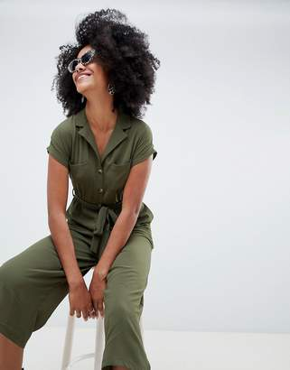 New Look Utility Shirt Jumpsuit