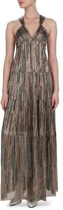 BA&SH Salsa Tiered Metallic Maxi Dress