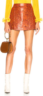 Chloé Snakeskin Printed Leather Mini Skirt