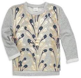 Baby Girl's & Little Girl's Cali Peacock Sweatshirt