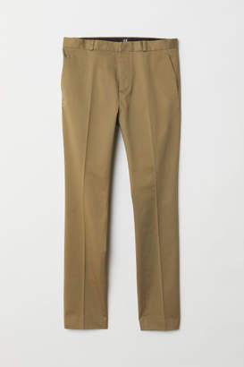 H&M Skinny Fit Cotton Chinos - Beige