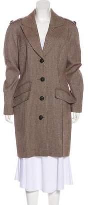 Thierry Mugler Button-Up Knee-Length Coat