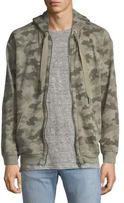ATM Anthony Thomas Melillo Camouflage-Print Terry Zip-Front Hoodie Sweatshirt