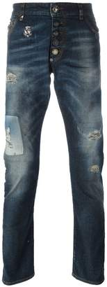 Philipp Plein 'Diggin' straight leg jeans