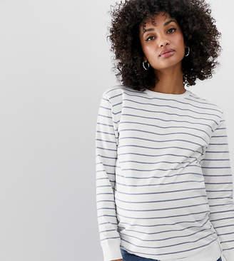 Asos DESIGN Maternity Stripe Sweat