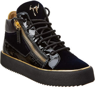 Giuseppe Zanotti Glynn Velvet & Patent Sneaker