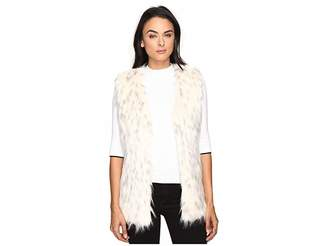Via Spiga Faux Fur Tripped Vest Women's Vest