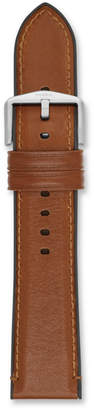 Fossil Estate 22mm Light Brown Leather and Silicone Watch Strap