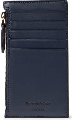 Ermenegildo Zegna Leather Zipped Cardholder