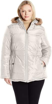 Big Chill Women's Plus Size Cinched Stadium Jkt