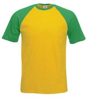 Fruit of the Loom Mens Shortleeve Baseball T Shirt , Mens