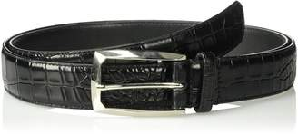 Stacy Adams Men's Big and Tall Ozzie Croc Embossed Belt