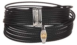 Alor Twisted Accent Logo Detail Wrap Bracelet