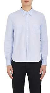 Visvim Men's Lightning-Bolt-Stitched Cotton Button-Front Shirt - Navy