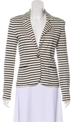 Tory Burch Notch-Lapel Striped Blazer