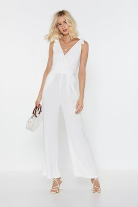 Nasty Gal Cut to the Lace Wide-Leg Jumpsuit