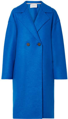 Harris Wharf London Oversized Double-breasted Wool-felt Coat - Blue